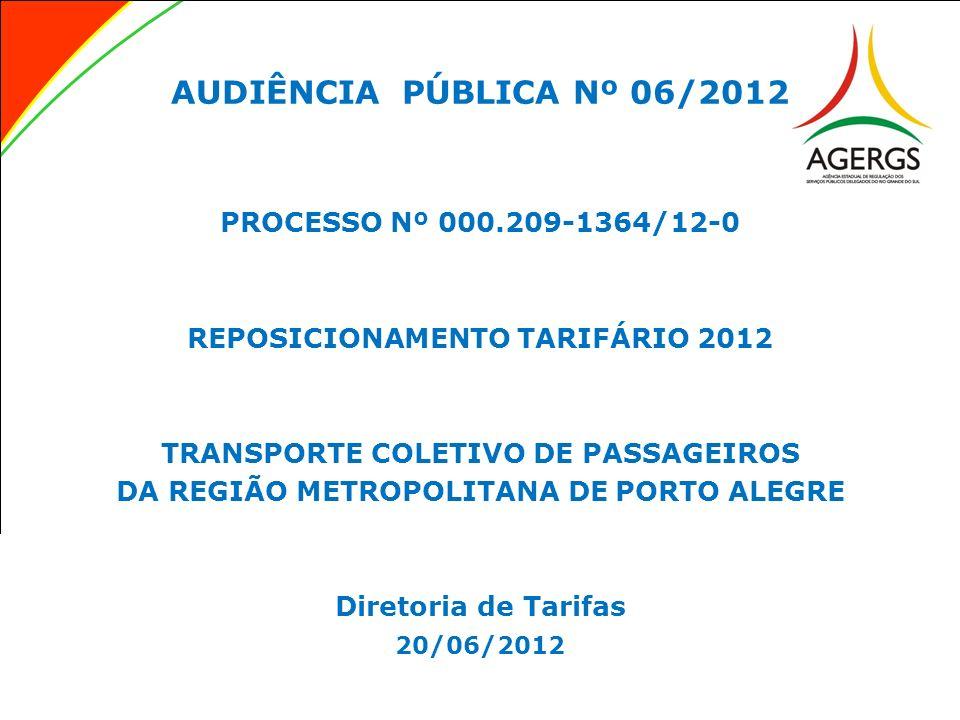 AUDIÊNCIA PÚBLICA Nº 06/2012 PROCESSO Nº 000.209-1364/12-0