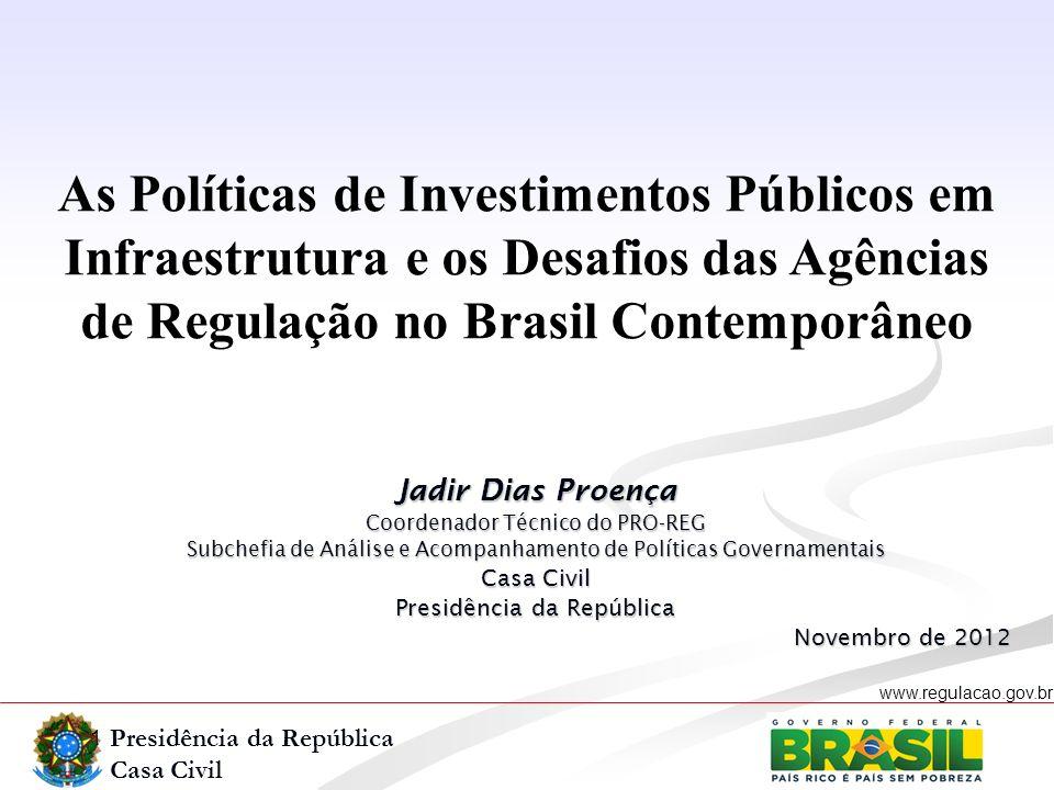As Políticas de Investimentos Públicos em Infraestrutura e os Desafios das Agências de Regulação no Brasil Contemporâneo