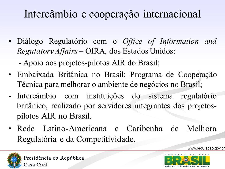 Intercâmbio e cooperação internacional