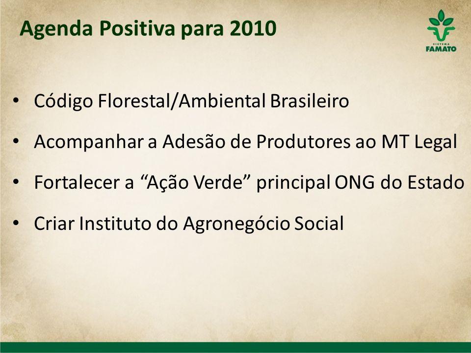 Agenda Positiva para 2010 Código Florestal/Ambiental Brasileiro