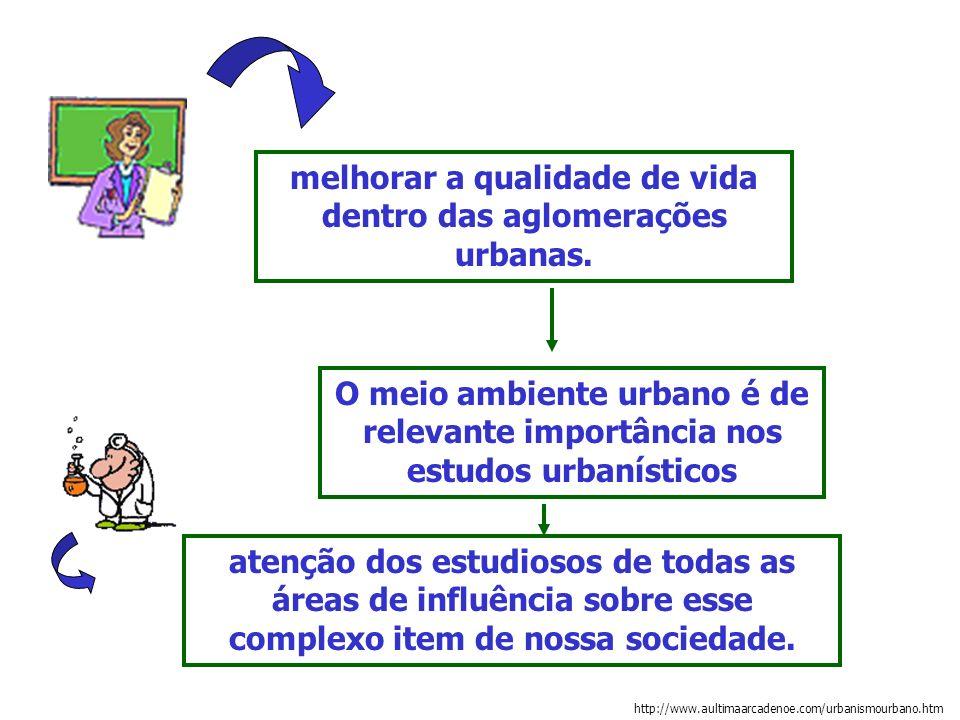 melhorar a qualidade de vida dentro das aglomerações urbanas.
