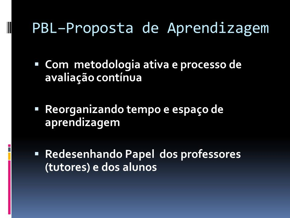 PBL–Proposta de Aprendizagem