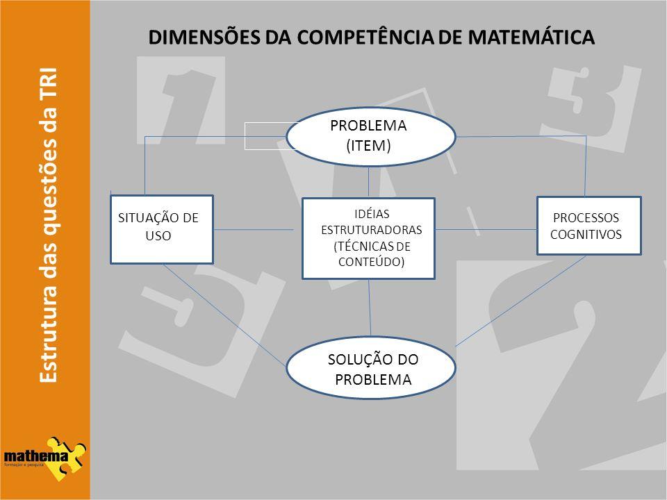 DIMENSÕES DA COMPETÊNCIA DE MATEMÁTICA