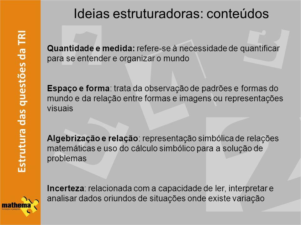 Ideias estruturadoras: conteúdos