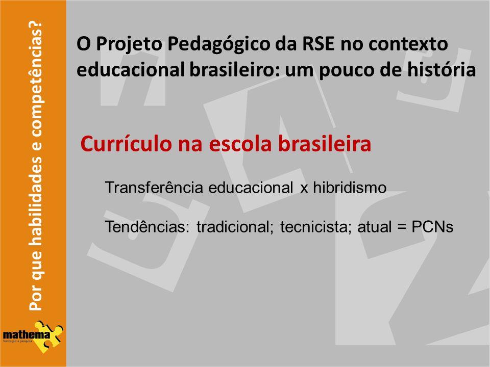 Currículo na escola brasileira