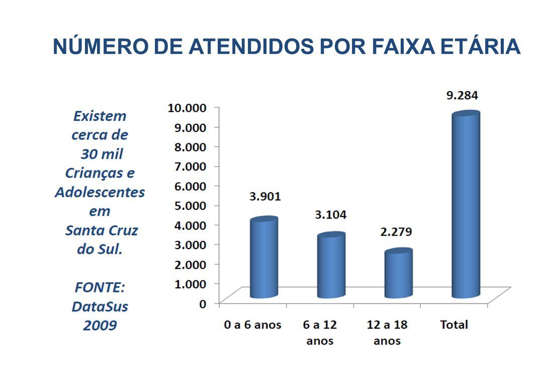 NÚMERO DE ATENDIDOS POR FAIXA ETÁRIA