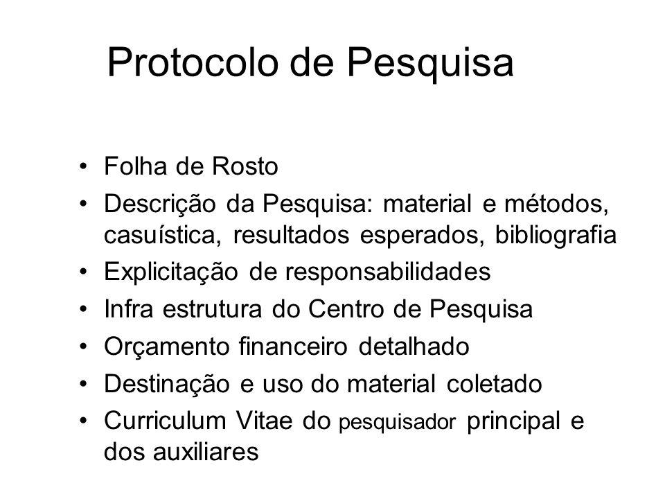 Protocolo de Pesquisa Folha de Rosto