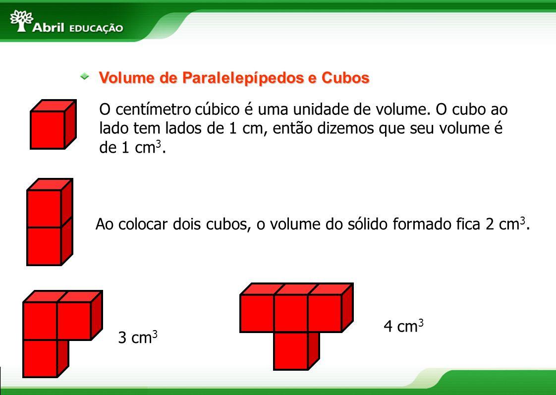 Volume de Paralelepípedos e Cubos