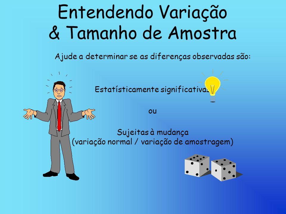 Entendendo Variação & Tamanho de Amostra