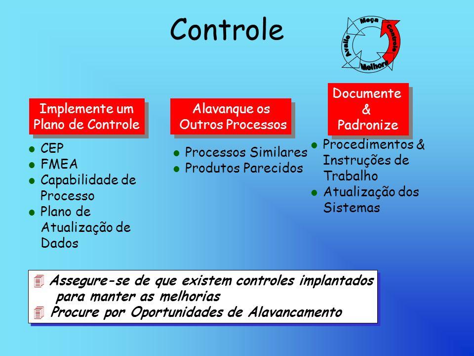 Controle Documente & Padronize Implemente um Plano de Controle