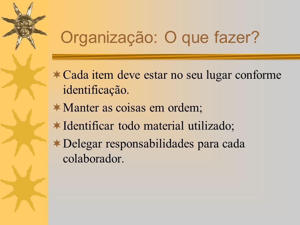 Organização: O que fazer