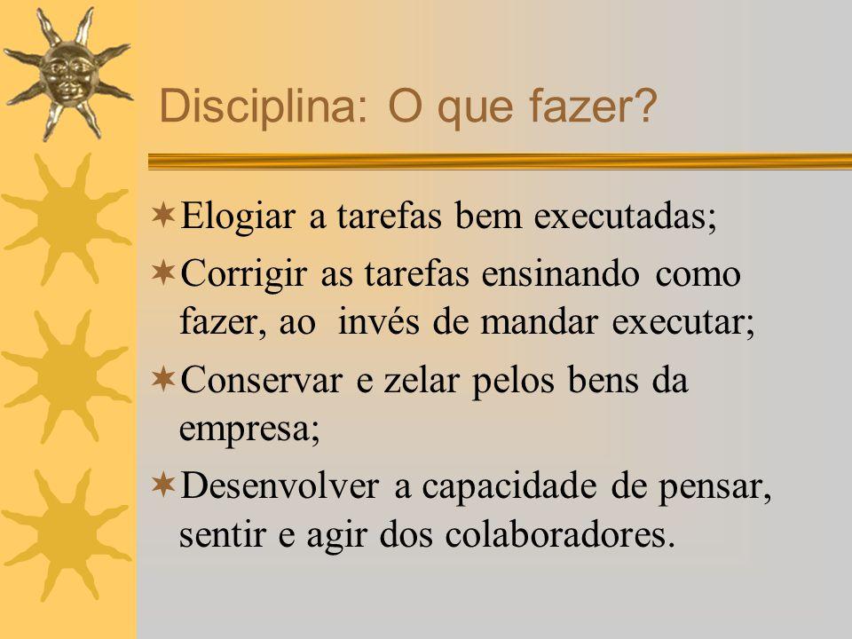 Disciplina: O que fazer