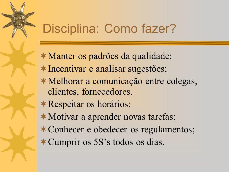 Disciplina: Como fazer