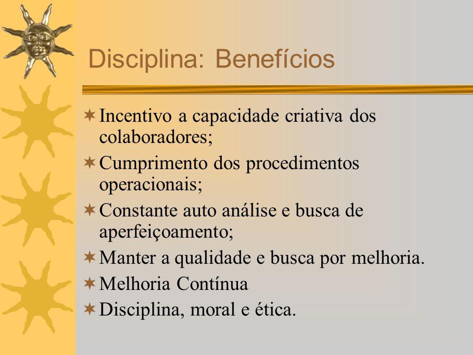 Disciplina: Benefícios