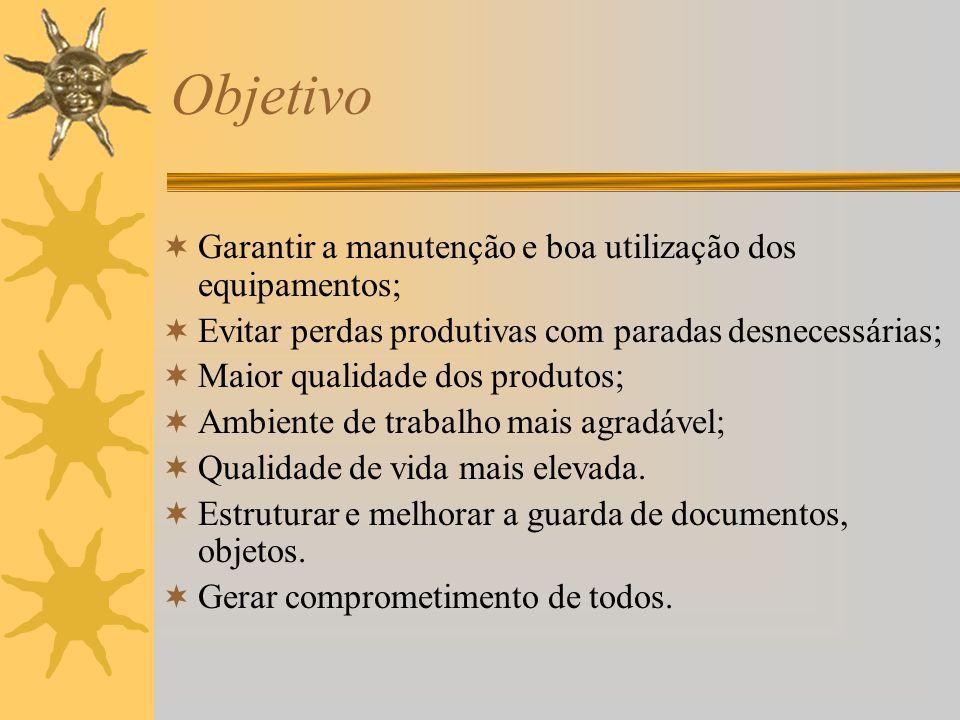 Objetivo Garantir a manutenção e boa utilização dos equipamentos;
