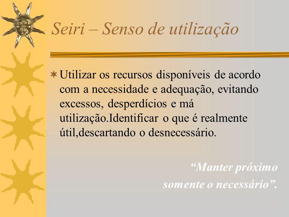 Seiri – Senso de utilização