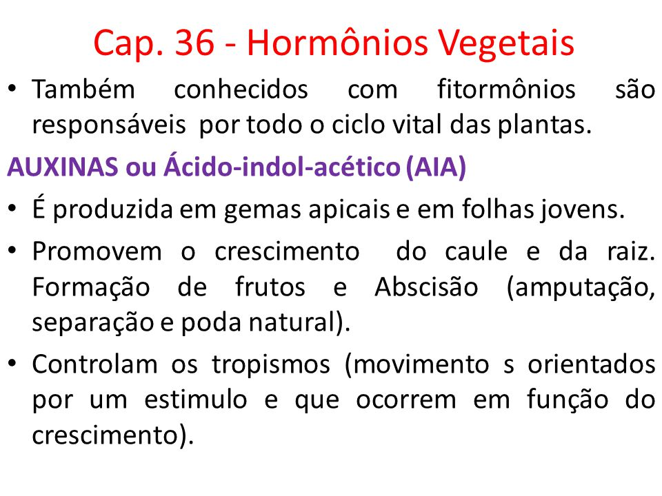 Cap. 36 - Hormônios Vegetais
