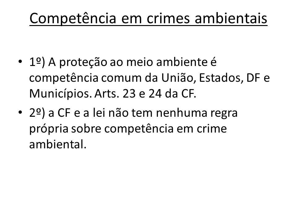 Competência em crimes ambientais