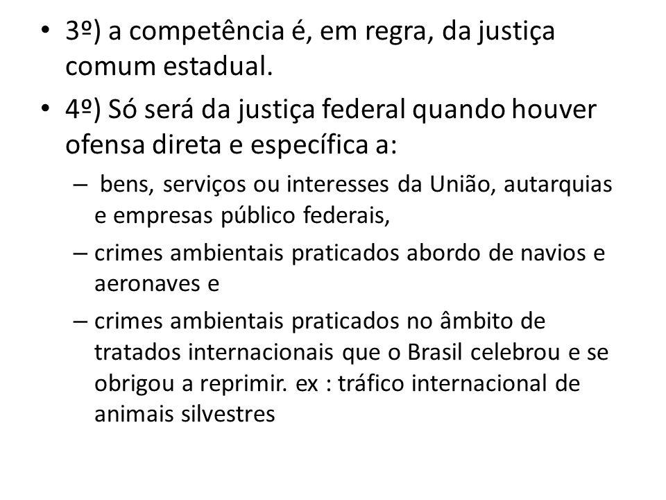 3º) a competência é, em regra, da justiça comum estadual.