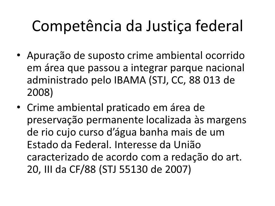 Competência da Justiça federal