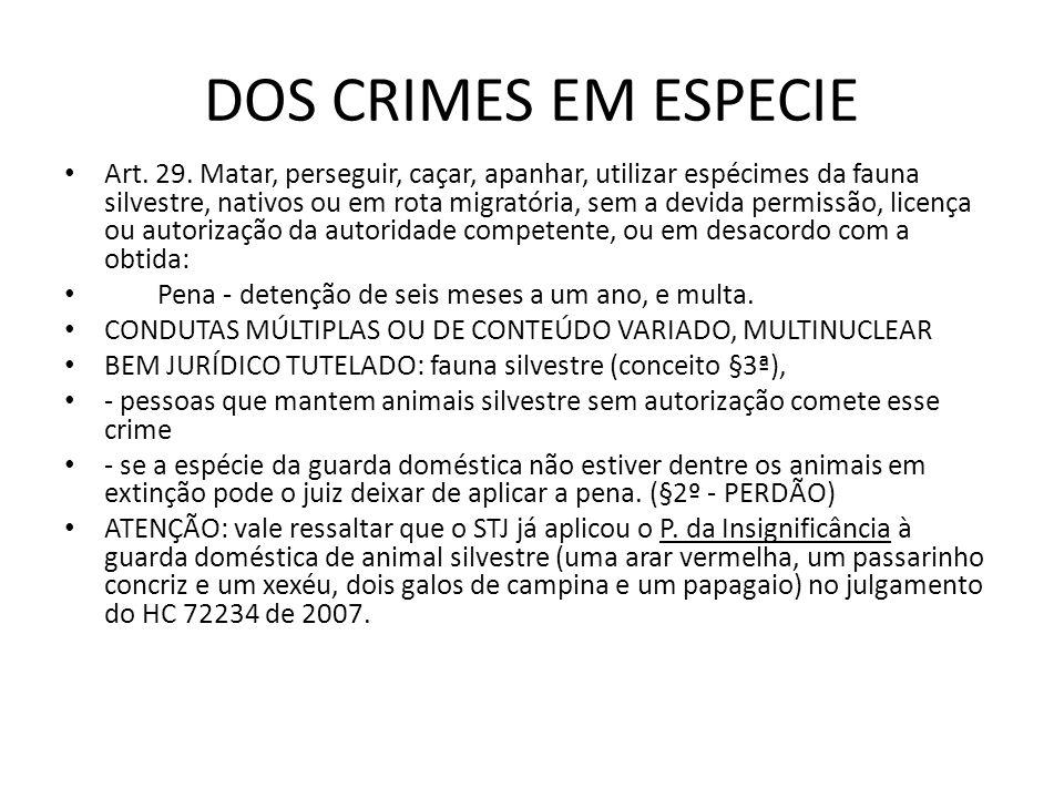 DOS CRIMES EM ESPECIE