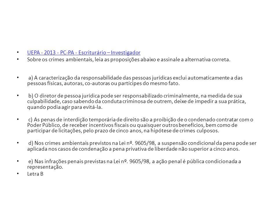 UEPA - 2013 - PC-PA - Escriturário – Investigador