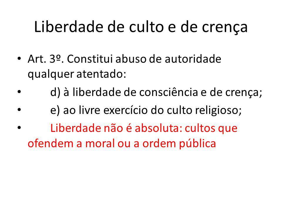 Liberdade de culto e de crença