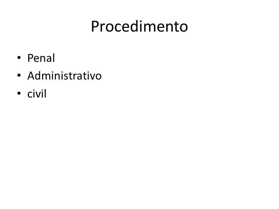 Procedimento Penal Administrativo civil