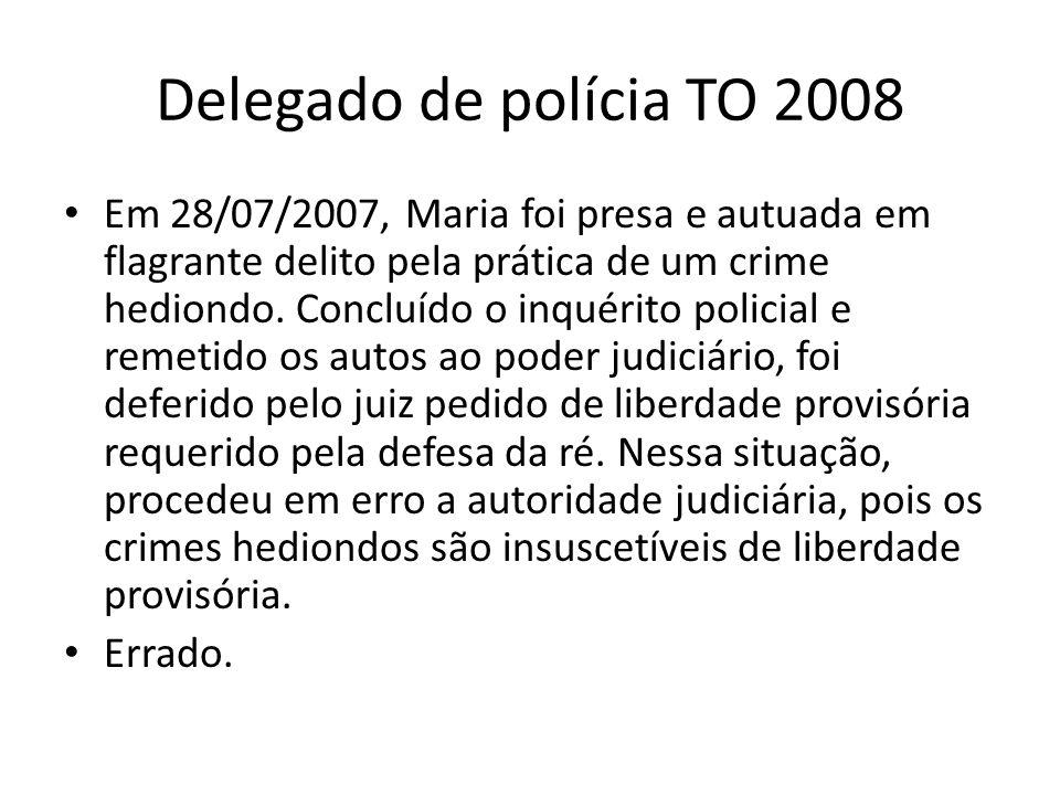 Delegado de polícia TO 2008