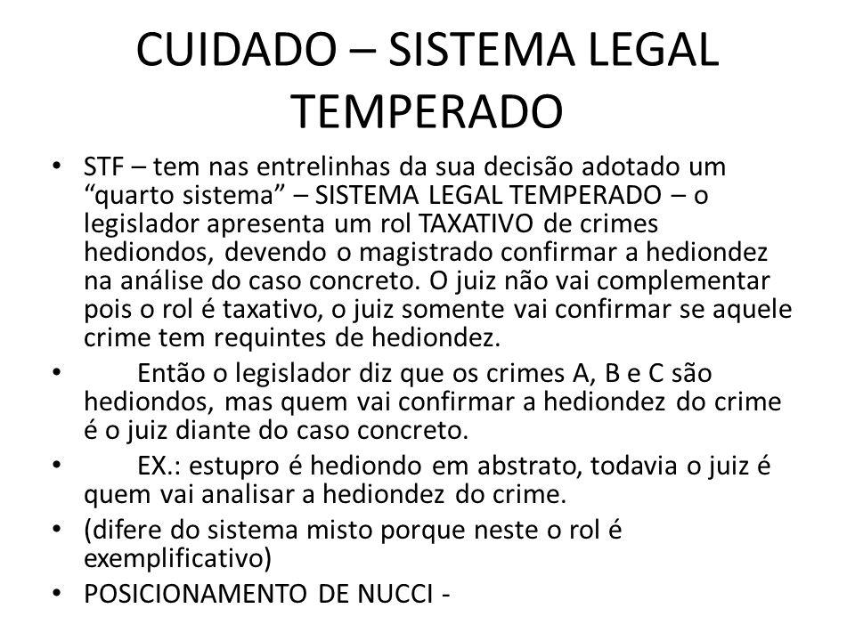 CUIDADO – SISTEMA LEGAL TEMPERADO