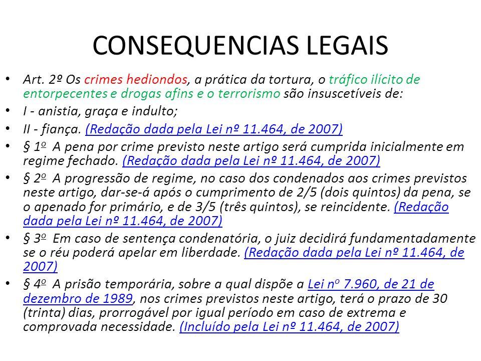 CONSEQUENCIAS LEGAIS