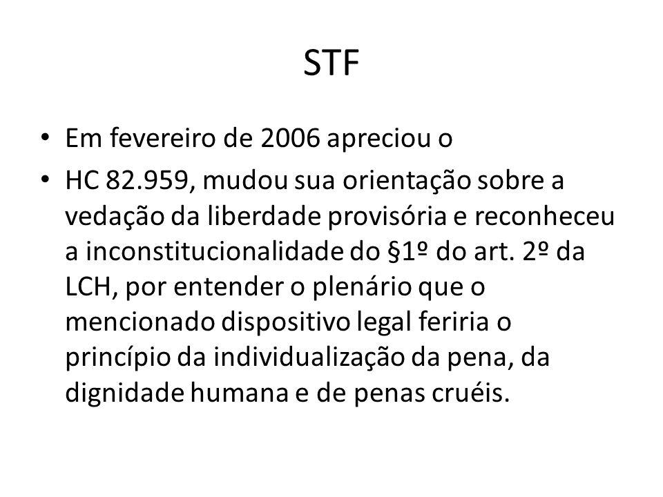 STF Em fevereiro de 2006 apreciou o