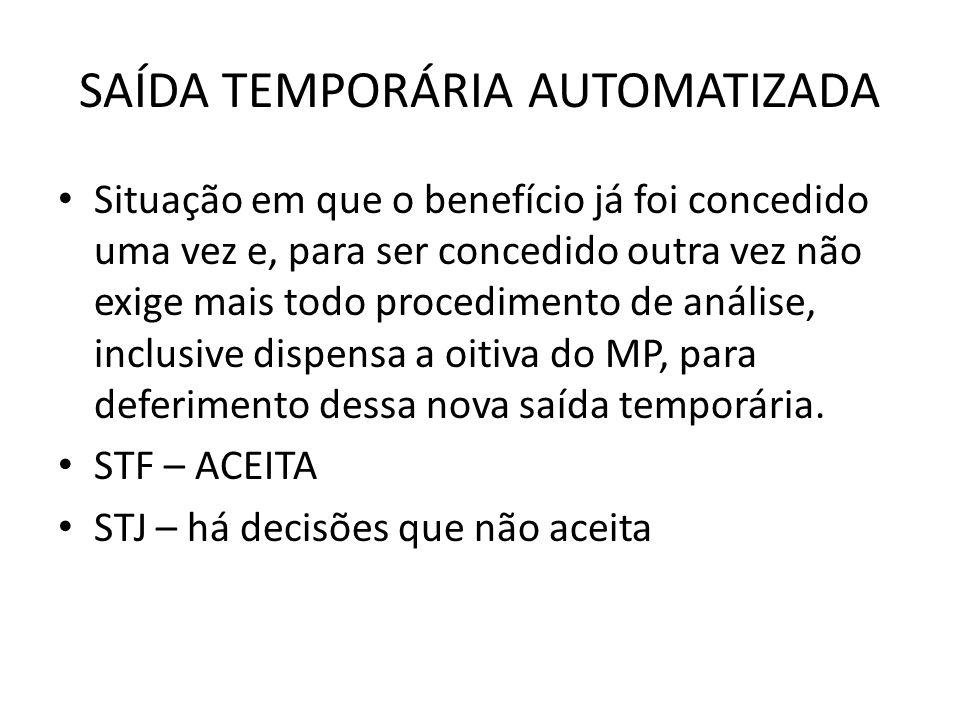 SAÍDA TEMPORÁRIA AUTOMATIZADA