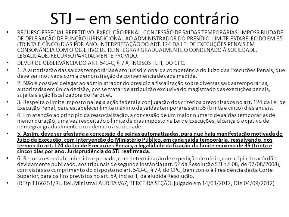 STJ – em sentido contrário