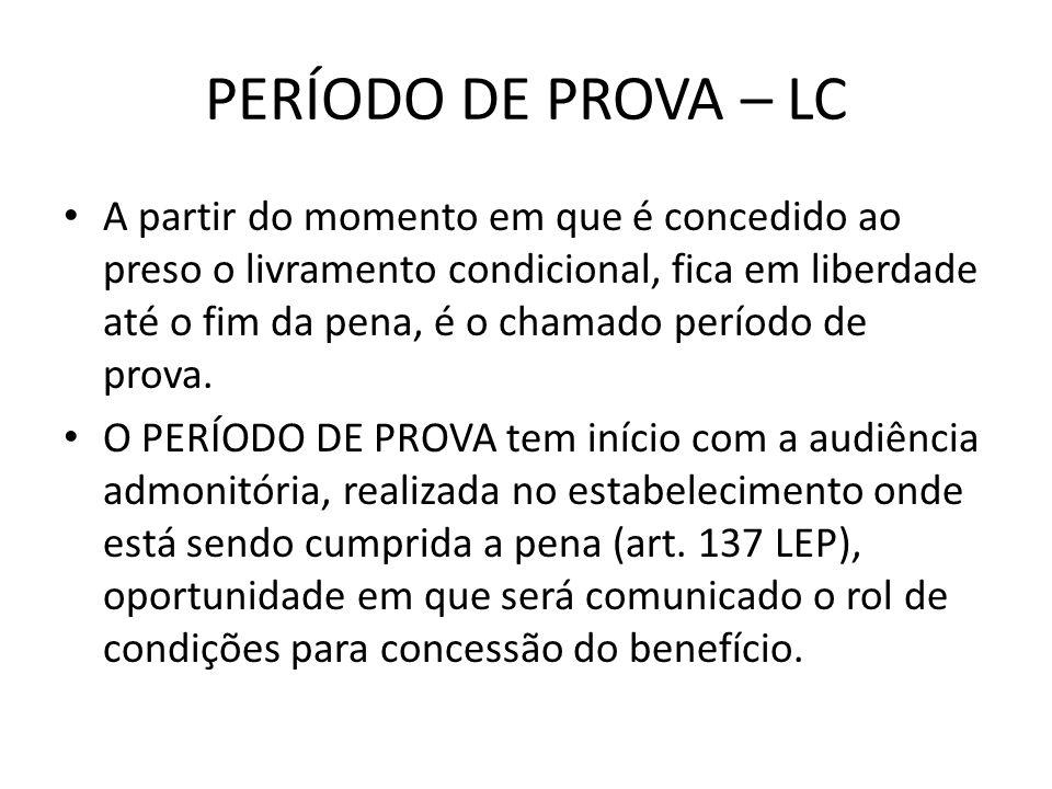 PERÍODO DE PROVA – LC
