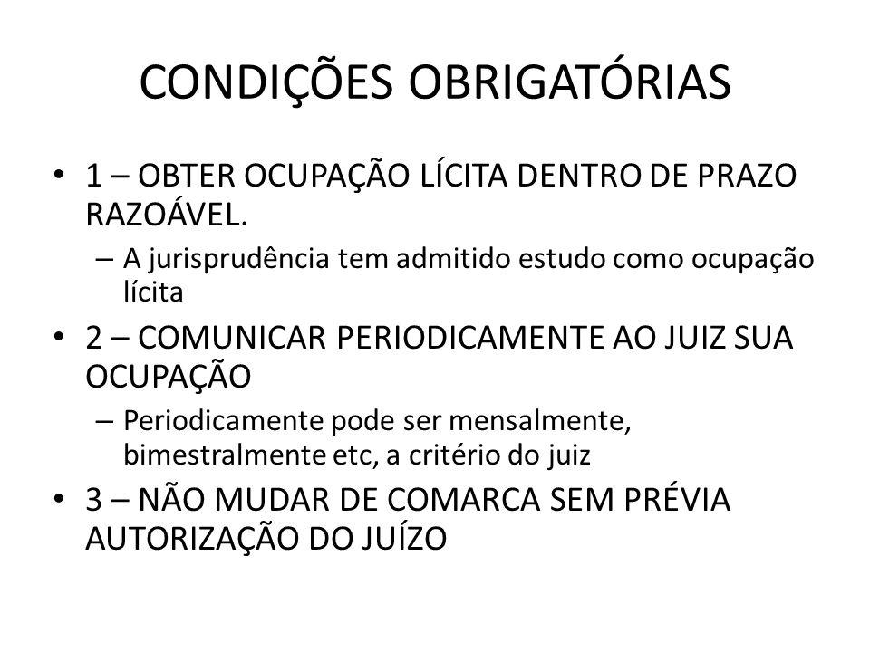 CONDIÇÕES OBRIGATÓRIAS