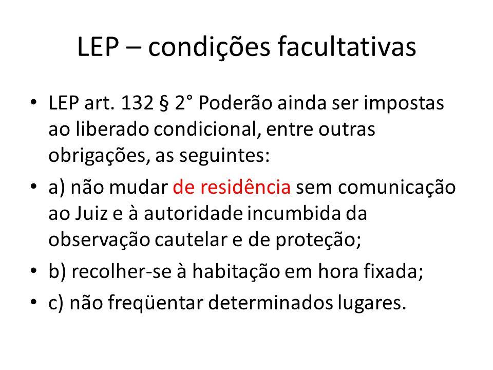 LEP – condições facultativas