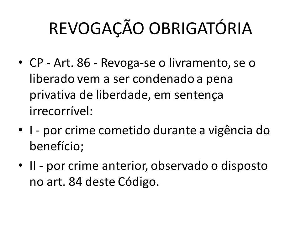 REVOGAÇÃO OBRIGATÓRIA