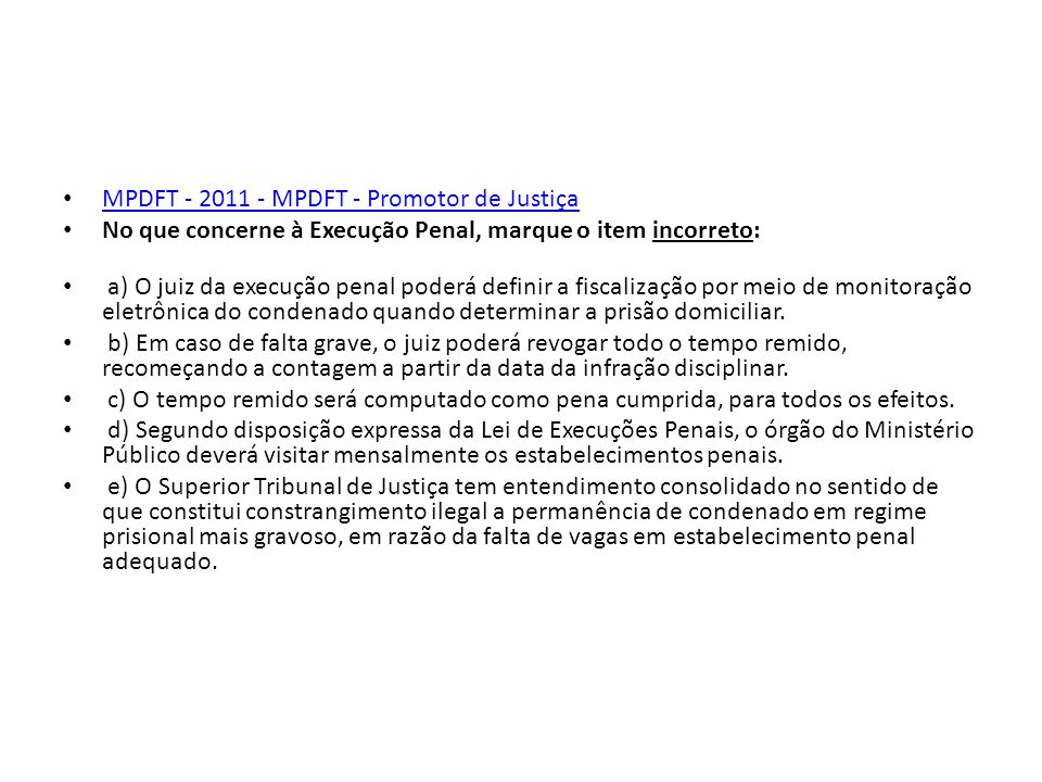 MPDFT - 2011 - MPDFT - Promotor de Justiça