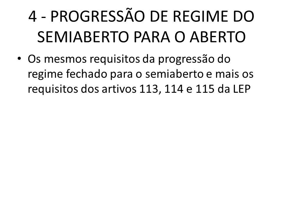 4 - PROGRESSÃO DE REGIME DO SEMIABERTO PARA O ABERTO