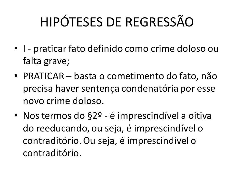 HIPÓTESES DE REGRESSÃO