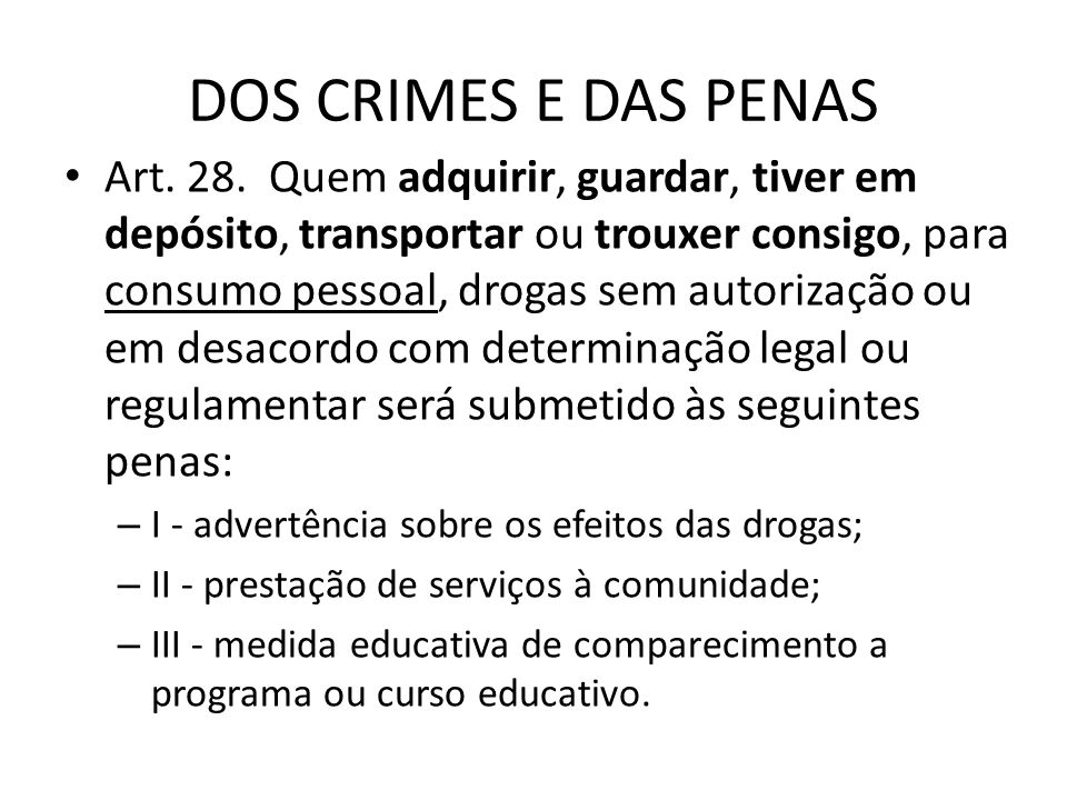 DOS CRIMES E DAS PENAS