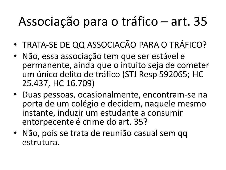 Associação para o tráfico – art. 35