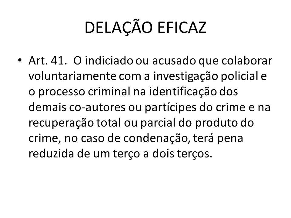 DELAÇÃO EFICAZ
