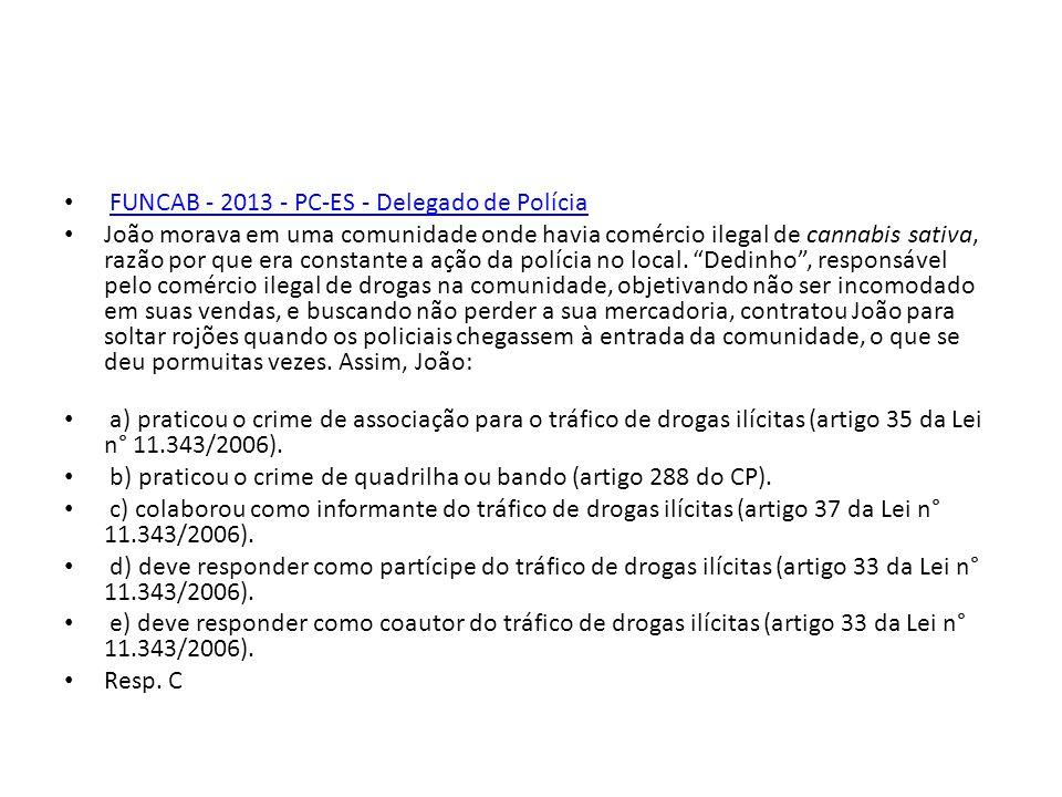 FUNCAB - 2013 - PC-ES - Delegado de Polícia