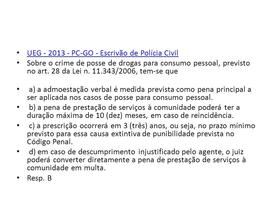 UEG - 2013 - PC-GO - Escrivão de Polícia Civil