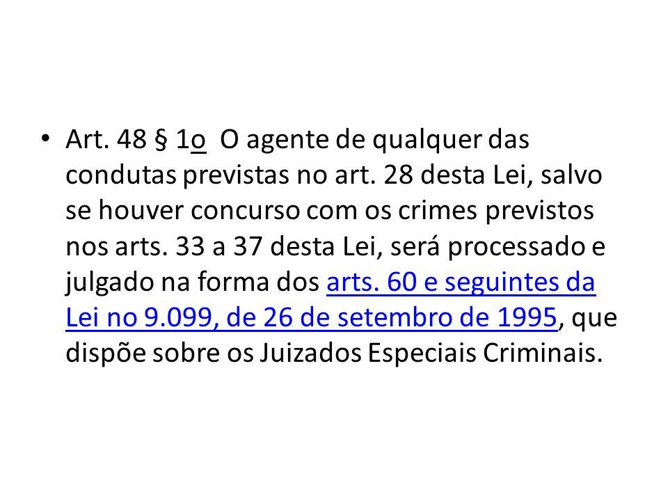 Art. 48 § 1o O agente de qualquer das condutas previstas no art