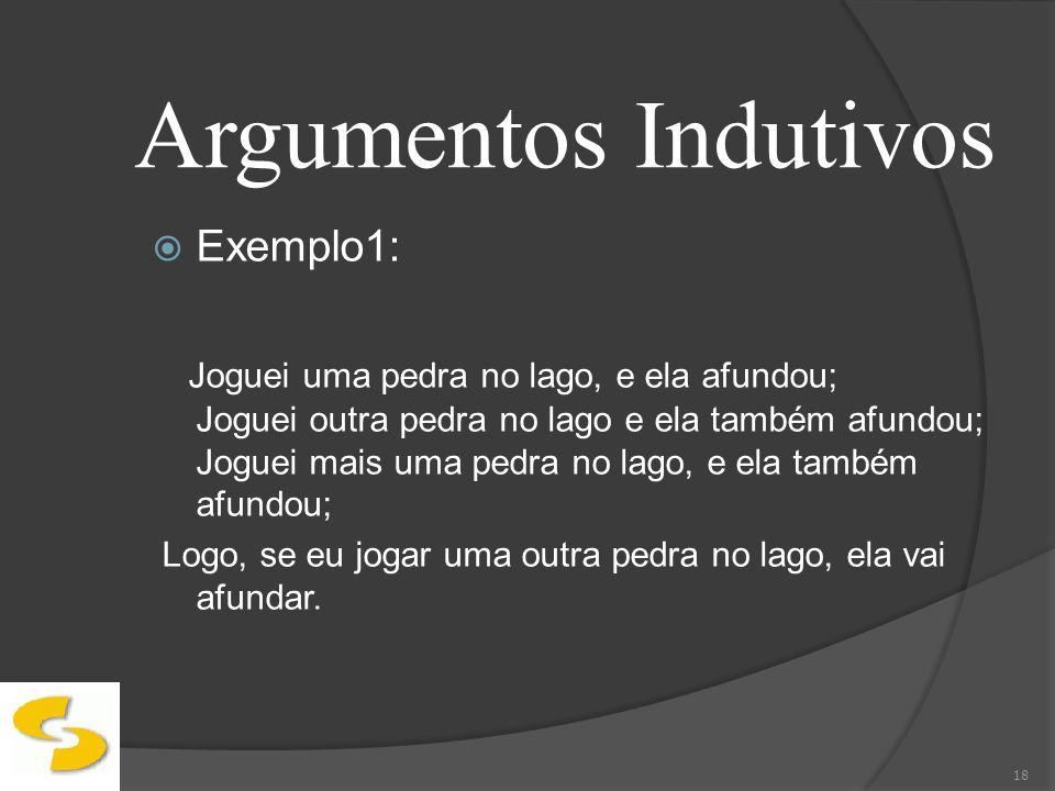 Argumentos Indutivos Exemplo1: