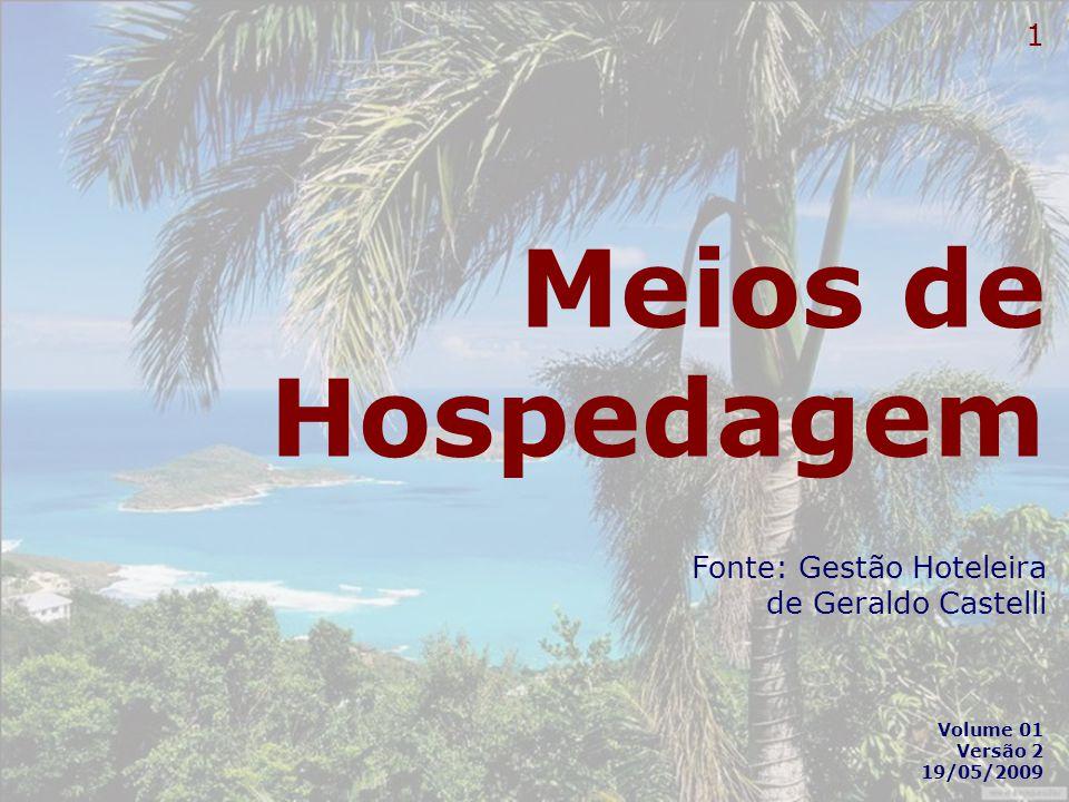 Meios de Hospedagem Fonte: Gestão Hoteleira de Geraldo Castelli