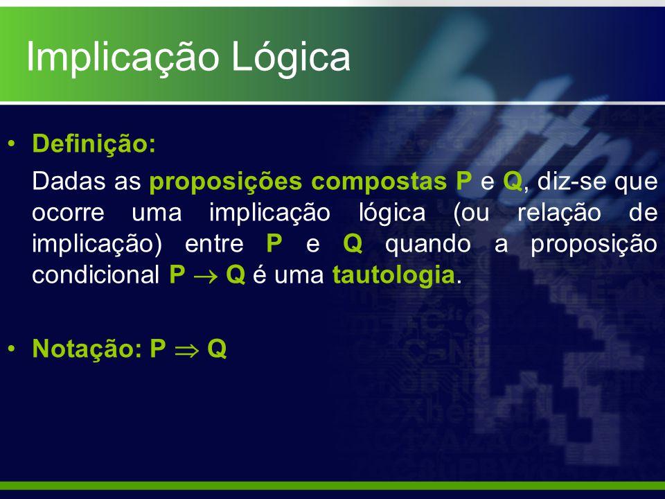 Implicação Lógica Definição: